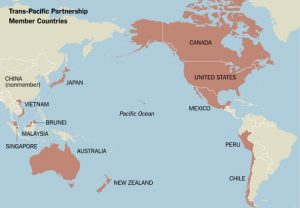 Trans-Pacific Partnership map