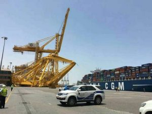 STS crane collapse at Jebel Ali