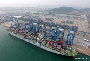 QQCTN Automated Container Terminal in Qingdao