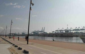 Algeciras port embankment