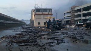Savona port fire
