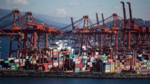 Vancouver container terminal